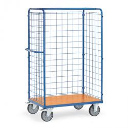 Package car - 3 wire mesh walls - height 1800 mm - 600 kg