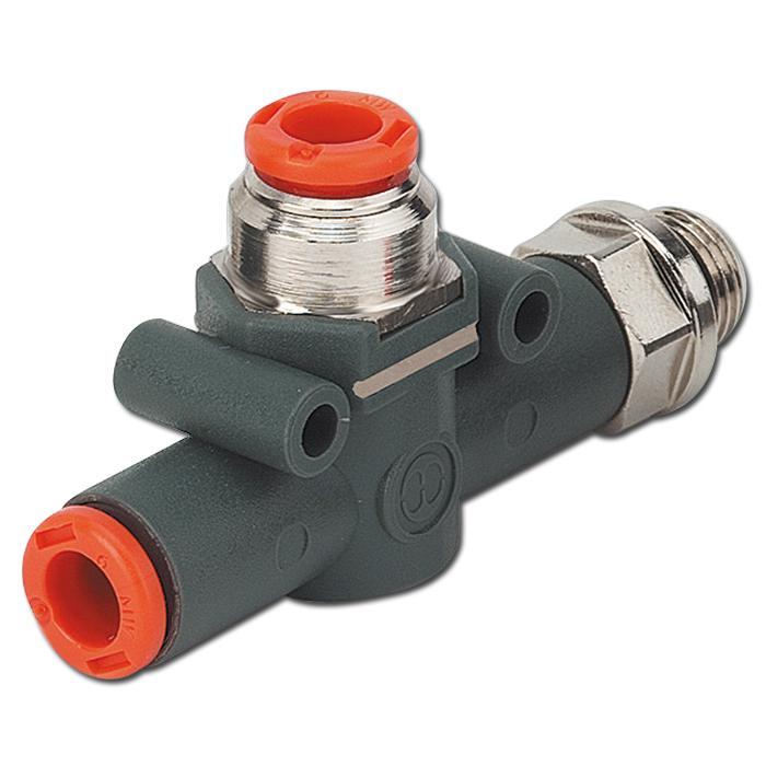 In-Line Schnellentlüftungsventil - VSR L - Schlauch-Gewinde Anschluss mit geführter Entlüftung