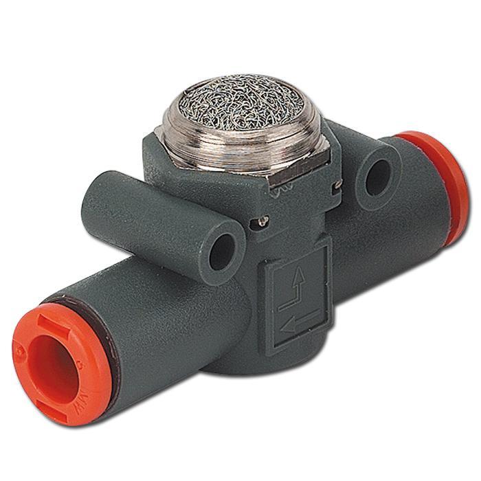 In-Line Schnellentlüftungsventil - Reihe VSR L -Schlauch auf Schlauch mit Schalldämpfer