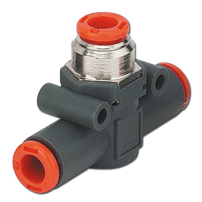 In-Line Schnellentlüftungsventil - Reihe VSR L - Schlauch auf Schlauch mit geführter Entlüftung