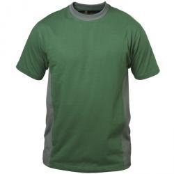 """T-shirt """"MALAGA"""" - verde / grigio - 100% cotone - Taglia S-XXXL"""