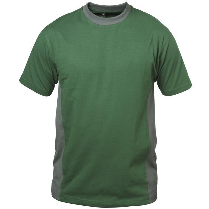 """T-tröja """"MALAGA"""" - grön / grå - 100% bomull - Storlek S-XXXL"""