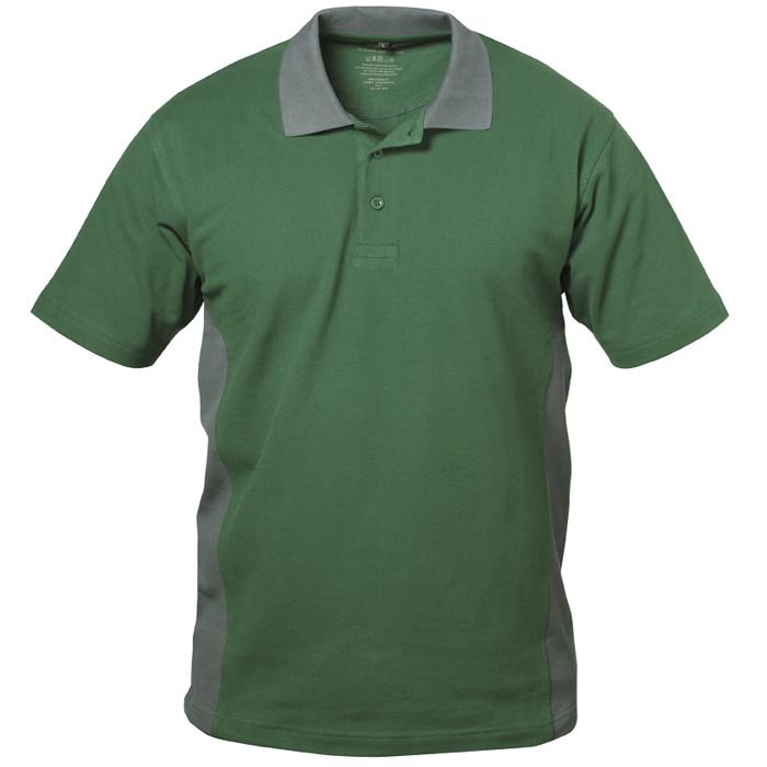 "Pikétröja ""VALENCIA"" - grön / grå - 100% bomull (pique) - Storlek S-XXXL"