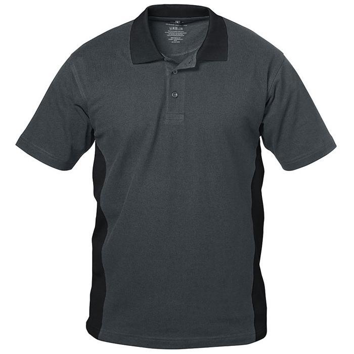 "Pikétröja ""GRANADA"" - grå / svart - 100% bomull (pique) - Storlek S-XXXL"