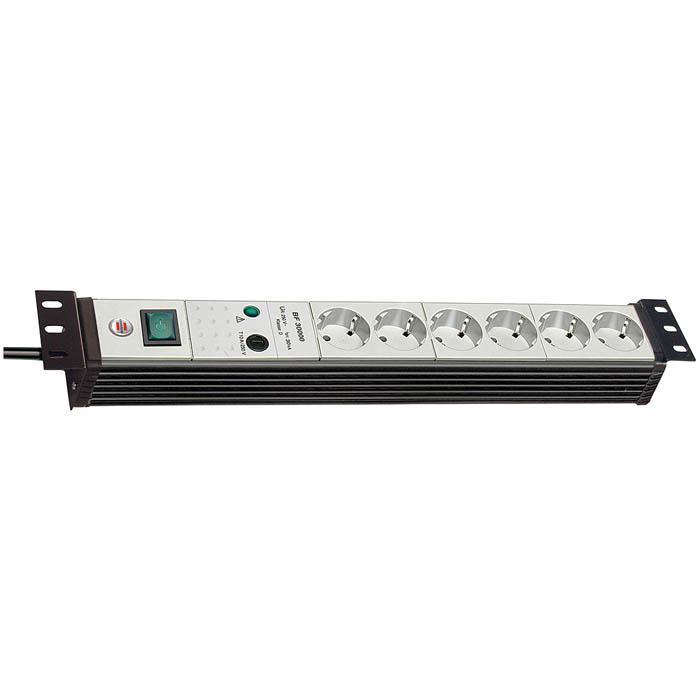 """Premium-Line 19"""" Steckdosenleiste für Schaltschränke - H05VV-F3G1,5 - 3 m Kabel"""