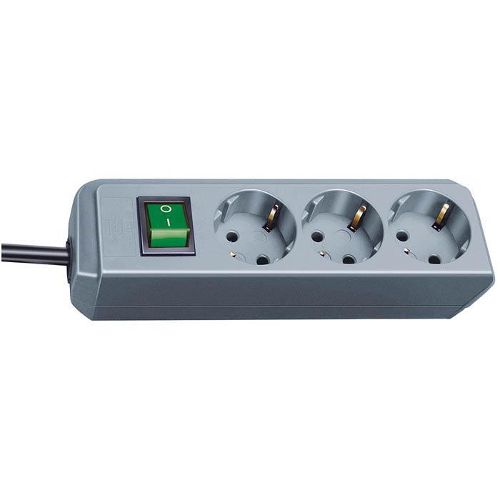 Eco-Line Steckdosenleiste - mit Schalter - 3-10-fach