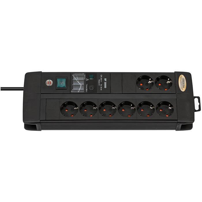 Premium-Line 30.000 A Überspannungsschutz-Steckdosenleiste - 10 A - H05VV-F 3G1,5