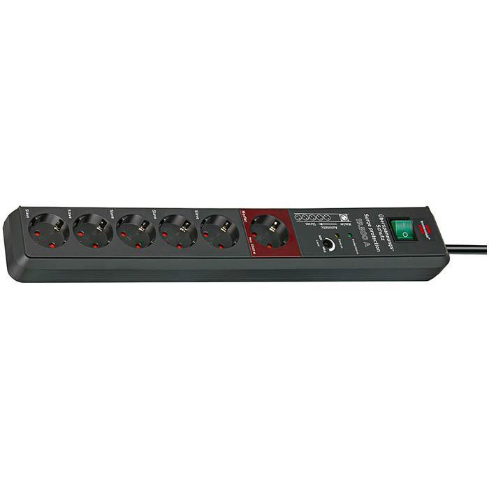 Secure-Tec 19.500 A Überspannungsschutz-Automatiksteckdosenleiste - 16 A - 3 m Kabel