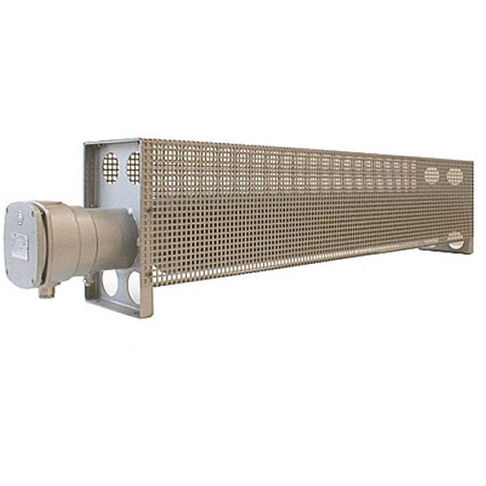 Ex-Rippenrohrheizgerät - lackiert - 230 V - mit Schutzkorb - Typ RH2 - Temperaturklasse T2/ T3