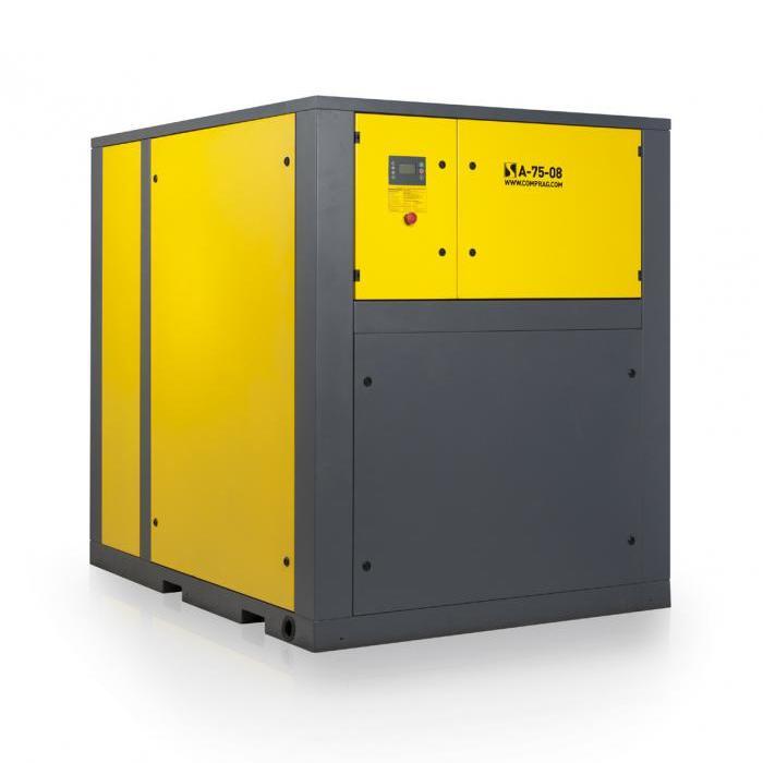 Schraubenkompressoren A-Serie - Antriebsleistung 75-90 kW - Luftvolumenstrom bis zu 13,8 m3/min