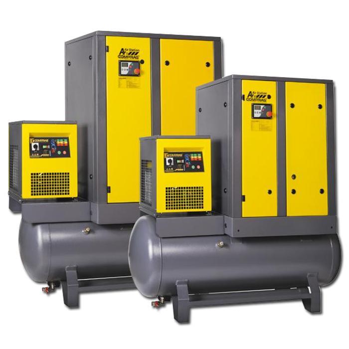 Schraubenkompressoren A-Serie - Antriebsleistung 22 kW - Luftvolumenstrom bis 3,6 m3/min