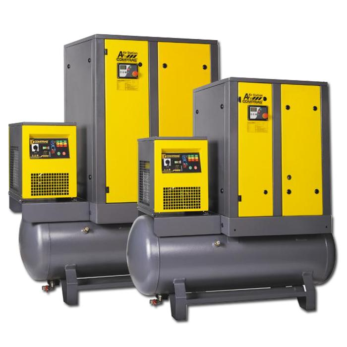 Schraubenkompressoren A-Serie - Antriebsleistung 15 kW - Luftvolumenstrom bis 2,3 m3/min