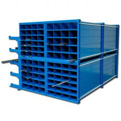 Honeycomb shelf - Trade Dimensions WxDxH 300x1000x1000 mm - 48 spaces - the light compartment Measurements 150x90 mm