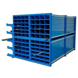 Honeycomb shelf - Trade Dimensions WxDxH 300x1000x1000 mm - 36 sections - the light compartment Dimensions (WxH) 150x130 mm