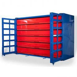 Låda tallrik lager - Fachmaß BxDxH 2580x1320x150 mm - 7 lådor