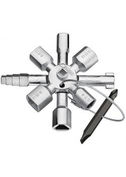 KNIPEX TwinKey® - Schaltschrankschlüssel - Länge 92 mm