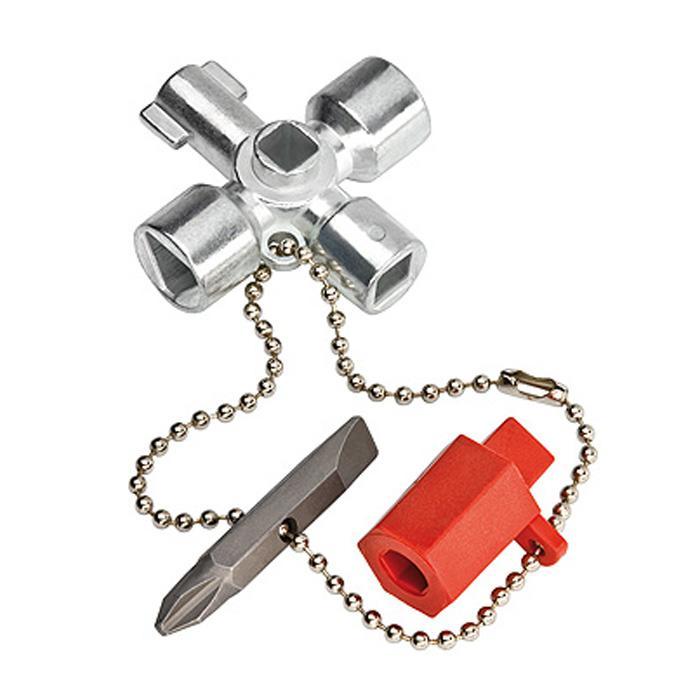 Schaltschrank-Schlüssel - Länge 44 bis 76 mm - Kreuzschlitz und Bit-Einsatz