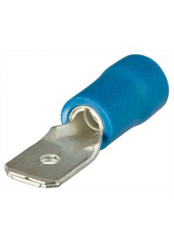 Flachstecker - isoliert - VE 100 Stk. - Breite x Dicke 6,3 x 0,8 mm²