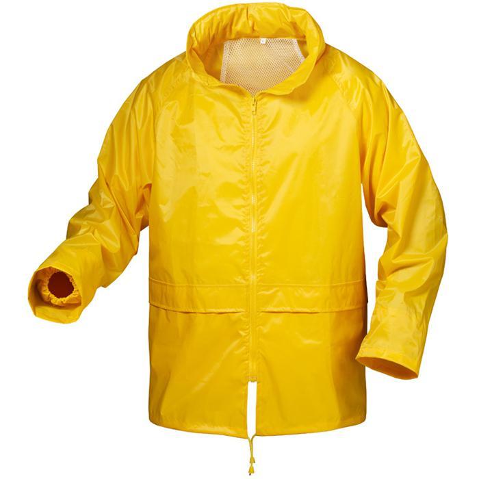 "Regenjacke ""Herning"" - 100% Nylon/Vinyl-beschichtet - Farbe gelb - S-XXXL"