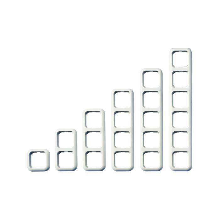 Abdeckrahmen Basic - Farbe reinweiß - PVC frei - Rahmenbreite 82 mm, Wippenmaß 58,6 x 58,6 mm