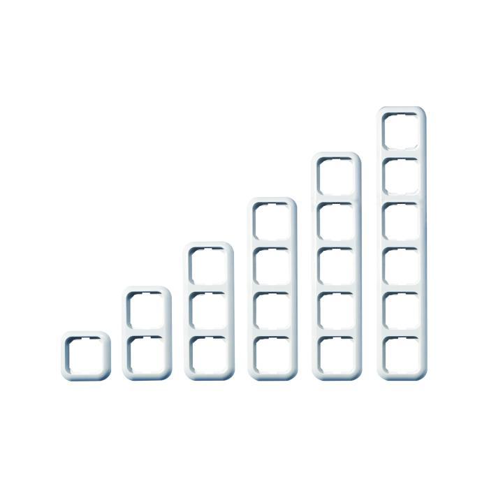 Abdeckrahmen Basic - Farbe alpinweiß - PVC frei - Rahmenbreite 82 mm, Wippenmaß 58,6 x 58,6 mm