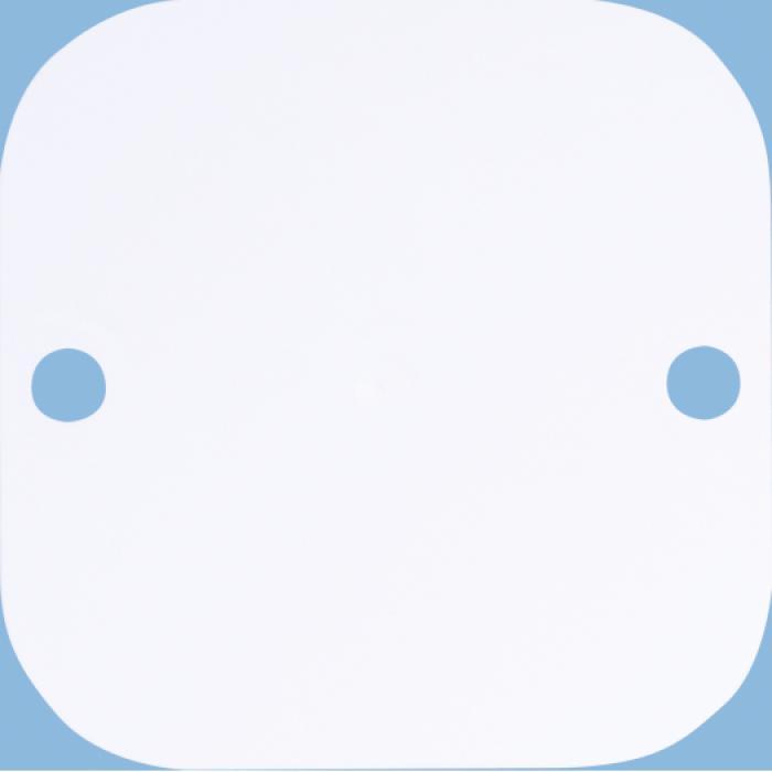 cadre et ignifuges plaques de base en saillie 1-Basic - couleur blanc pur / blanc alpin