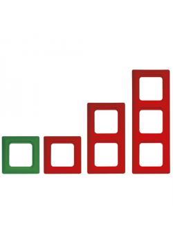 Abdeckrahmen Kanto - grün/rot - Rahmenbreite 82 mm - IP 20