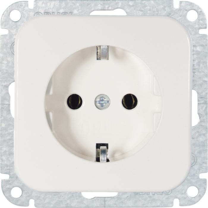 Earthed socket Opus 1 without claws - 250 VAC, 50 Hz, 16 A