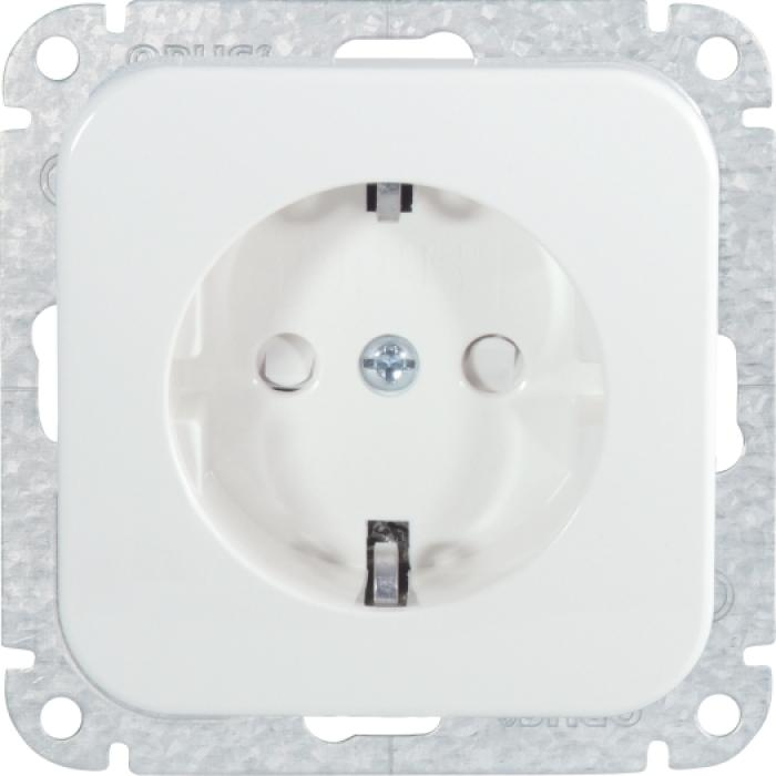 Earthed socket Opus 1 - with child protection - 250 V AC, 50 Hz, 16 A