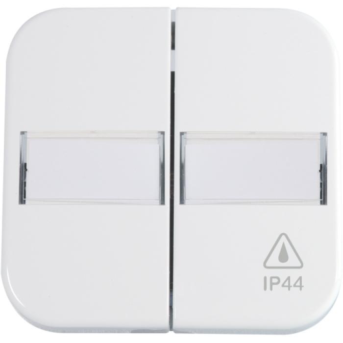Flächen-Doppelwippe - mit Beschriftungsfeld - IP 44 - Opus 1