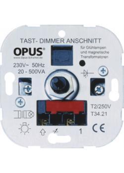 Tast-NV-Halogenlampen-Dimmer - 20- 500 VA - mit Schraubklemmen