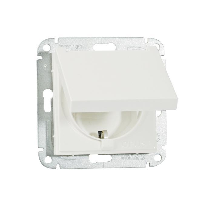 Hinged lid outlet Opus 55 V - 250 V AC, 50 Hz, 16 A