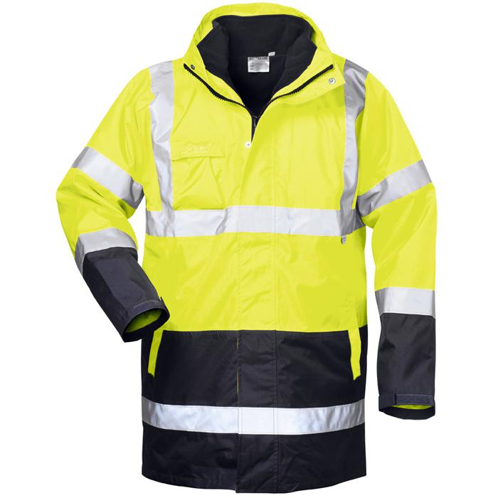 "colore interrotto giallo fluorescente, blu marino - - Parka ""Spencer"" - 4 in 1 formato S-XXXXL"
