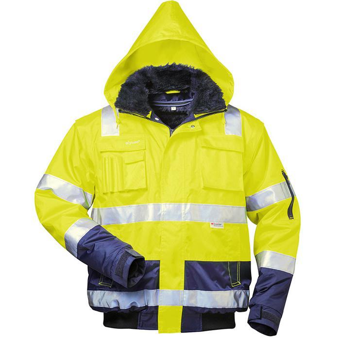 """Visibilità giacca """"Arthur"""" - colore giallo fluorescente / navy - formato S-XXXXL"""