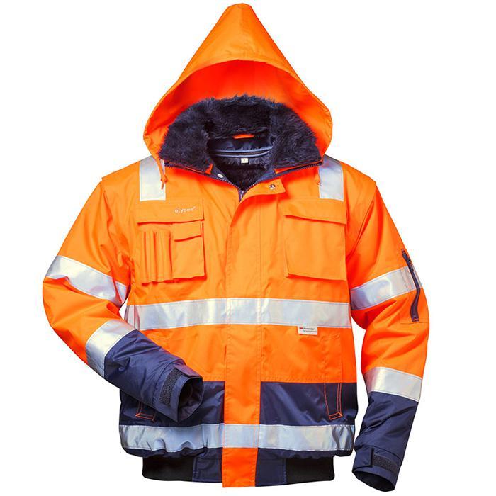 """giacca Visibilità """"Oliver"""" - colore fluorescente arancione / blu marino - formato S-XXXXL"""