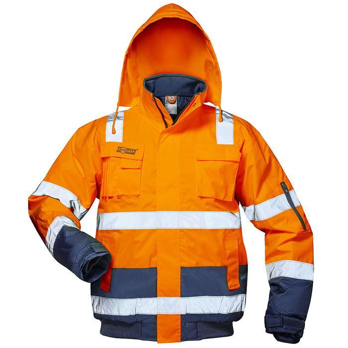 """Visibilità giacca """"Jonas"""" - colore fluorescente blu marino arancione, deposto - formato S-XXXL"""
