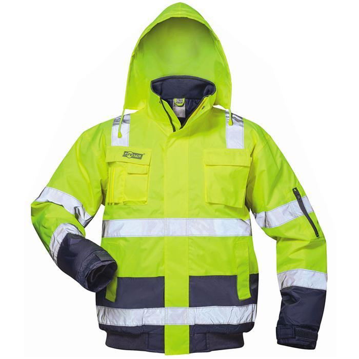 """Visibilità giacca """"Axel"""" - colore giallo fluorescente, blu marino, deposto - taglie S-XXXL"""
