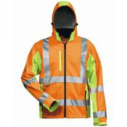 "Softshell Jacket ""Hoss"" - colore arancione / giallo - formato S-XXXL"