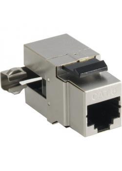 RJ45-Modul, CAT6 - 250MHz - Metall - für Tragplatte
