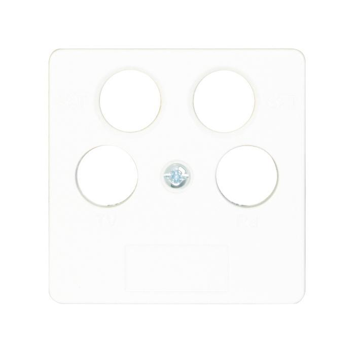 Antenna Cover Opus® 55-4 hole - 4-hole TV / RF / SAT 2x