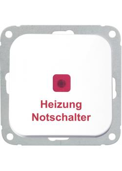 Heizungs-Notschalter - 2-polig - mit roter Linse - 250 V AC, 50 Hz, 10 A