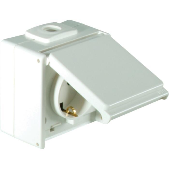 Schutzkontakt-Steckdose - 1-fach - IP54 - mit/ohne erhöhten Berührungsschutz