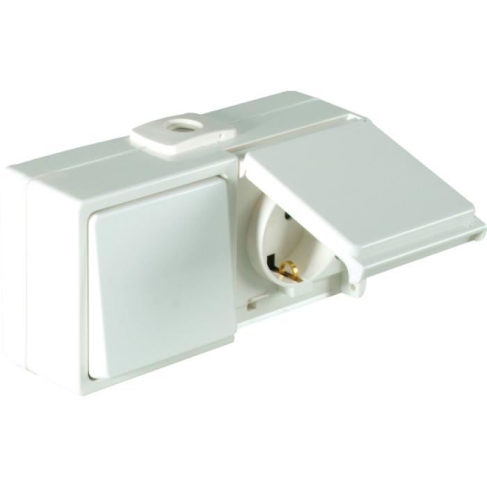 Wechselschalter/Steckdosen - IP54 - waagerecht - 250 V AC - 10 / 16 A
