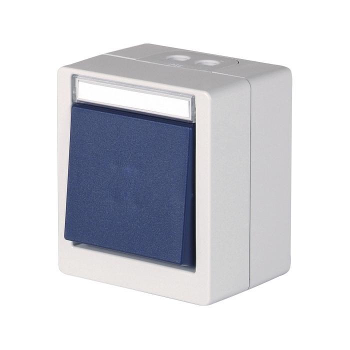 Schalter/Taster - mit Beschriftungsfeld - 250 V AC, 50 Hz, 10 A