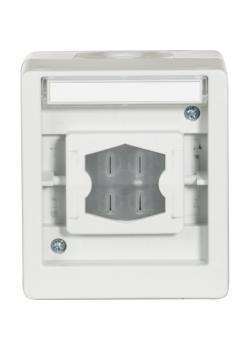Multifunktionsschalter - Farbe hellgrau/stahlblau - 250 V AC, 50 Hz, 10 A