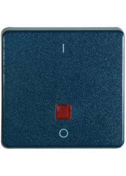 Flächenwippe - Farbe stahlblau - IP 55 - mit /ohne Signalauge