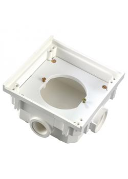 Einbau-Leergehäuse-Unterteil - 111,5 x 111 x 65 mm - ohne Klappdeckel