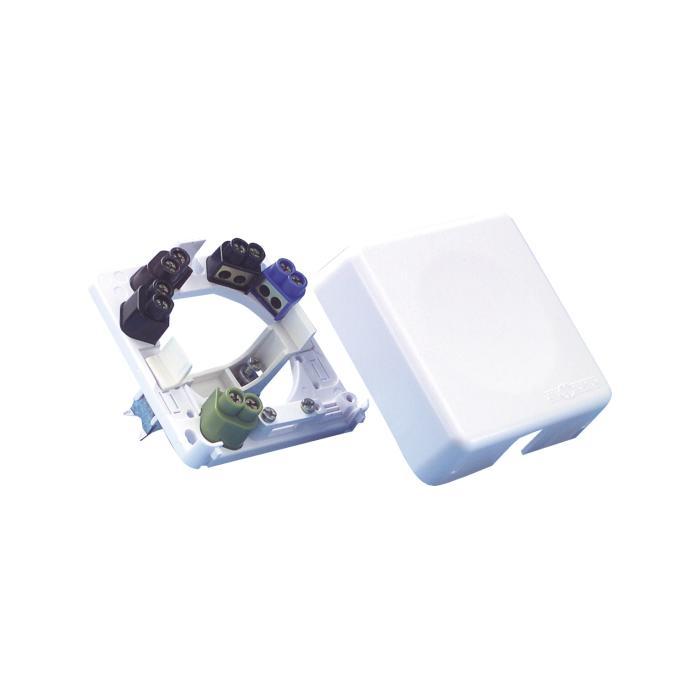 Geräteanschlußdose - 5x6 mm² - 84 x 84 x 24 mm - für Aufputz/Unterputz