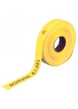 Varning och remmen - 250 m - färgen gul - med inskription