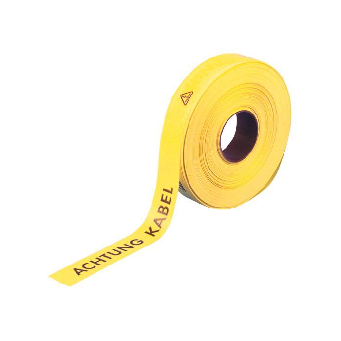 Warn-und Trassenband - 250 m - Farbe gelb - mit Beschriftung